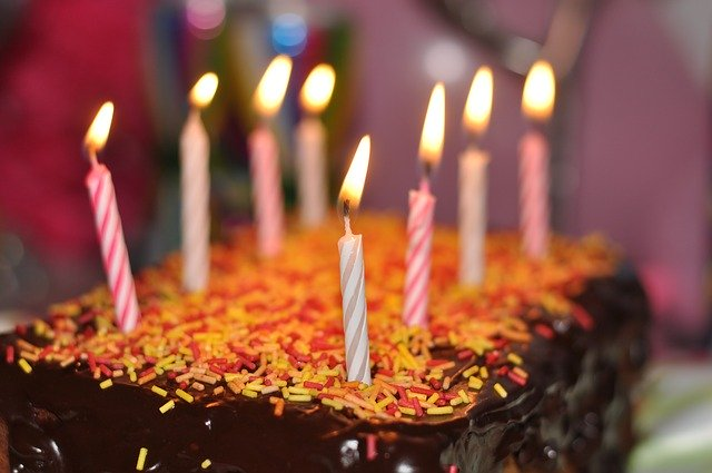 cumpleaños en cuarentena torta
